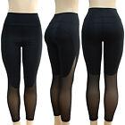 Women Mesh Yoga Gym Leggings Fitness Workout Sport Jogging High Waist Slim Pants