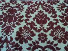 "3 Yds 56"" Wide Heavy Ivory/ Burgundy/Red  tones Woven Upholstery Fabric"