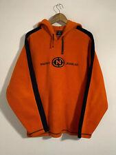 Vintage Nautica Jeans Fleece Hoodie Spell Out Size XL Men's Orange Sweatshirt