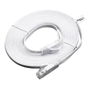 Ethernet câble Cat6 plat RJ45 blanc 5m
