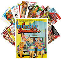 Postcards Pack [24 cards] Girls in Sexy Comedies Vintage Trash Movie Ads CC1080