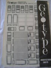 VINTAGE GEOTYPE ARCHITECTURAL SHEETS TRUCK SYMBOLS