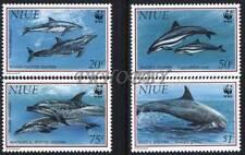 Niue 1993 Mi 822-25 ** WWF Animals Pets Tiere Zwierzęta Dolphins Delphine
