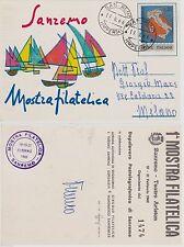 # SANREMO: 1966 MOSTRA FILATELICA AL TEATRO ARISTON