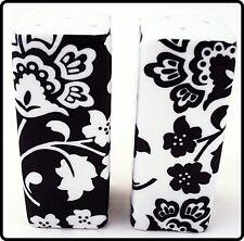 Florence Salt & Pepper Set Rectangular Porcelain Black & White Cruet Set Shakers