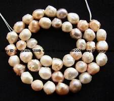 new 7-9mm multicolor freshwater Pearl  oval gemstone beads 15''