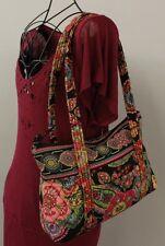 VERA BRADLEY Multicolor Floral Quilted Tote Shoulder Bag In Symphony Hue-Retired