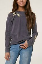 O'Neill HELIOS Girls Youth Crew Neck Pullover Sweatshirt Medium Ebony NEW 2019