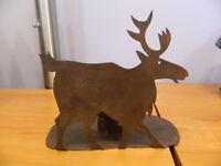 Metal Moose Candle Stick Holder Lodge Cabin Decor