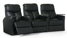 Octane Bolt XS400, Power Recline, Black Premium Leather Home Theater Seating