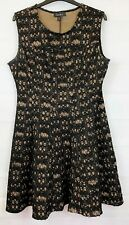 S L FASHIONS Womens Black Mix Sleeveless Party Dress Size 12