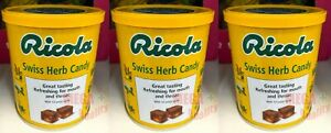 3 x Ricola Swiss Herb Candy Lozenges Soothing Relieve Cough Sore Throat 250g