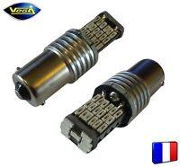2 ampoules 45 leds 4014 SMD P21W BA15S rouge 1000 lumens 12V