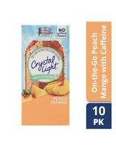 (Lot of 6) Crystal Light Peach Mango w/ Caffeine On The Go Drink Mix 10 packets