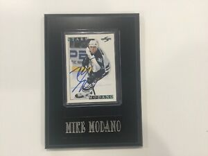 Mike Modano Signed Autographed Card Plaque Dallas Stars a