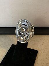 Jeff Lieb Swarovski Crystal Ring Adjustable