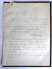 DURIF FERRY BOUDON de FREDEVILLE PARIS GABIOU 1859 Faire Part Deces genealogie
