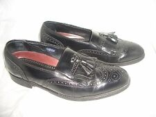 FLORSHEIM BLACK LEATHER WINGTIP BROGUES DRESS CASUAL LOAFER SHOES  SIZE 8 D