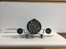 Metal Airplane  Clock
