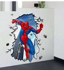 100*70cm 3D Large Wall Sticker Nursery Decor Removable Children Decal Spider Man