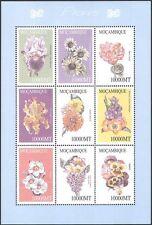 Mozambique 2002 Flowers/Orchids/Plants/Nature/Horticulture 9v m/s (n42795)