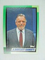 A Bartlett Giamatti Commissioner 1990 Topps Baseball Card Number 396