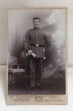 Militaria Cabinet Foto Soldat Uniform um 1900  Metz
