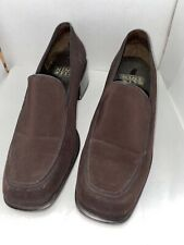Nine West Penny Loafer Heels Size 7 1/2 Brown Career High Heel Shoe