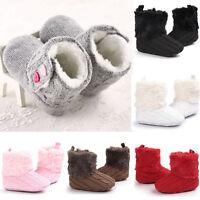 Winter Warm Crib Shoes Newborn Baby Girl Toddler Soft Sole Boots Prewalker 0-18M