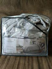New Flannel Stripe Duvet Cover & Pillow Shams Set Gray Threshold Full/Queen