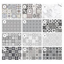 Peel and Stick Tile Sticker Stick on Tile Kitchen Bathroom Backsplash Grey 24pcs