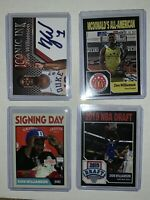 4 Different ZION WILLIAMSON 2018 Rookie Card RC Duke McDonalds Iconic Ink #1 Pk