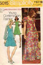 1970's VTG Simplicity Misses' Dress Pattern 5015 Size 12 UNCUT