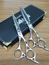 CLASSIC professional  hairdressing hair cutting & thinning  barber scissors 6.5""