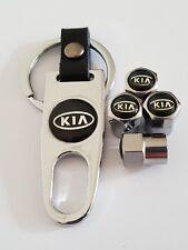 KIA Plastic Valve DUST CAPS Keyring Keychain Spanner all Models Chrome Sportage