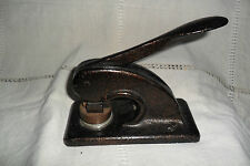ANTIQUE CAST IRON PRESS SEAL EMBOSSED WITH GILT DECORATION BAILEY'S BRIDGE STREE