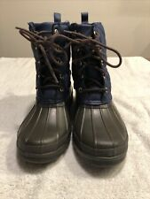Sperry Top-Sider Womens 8 39 Paul Blue Booties Winter Duck Ankle Boots STS83694