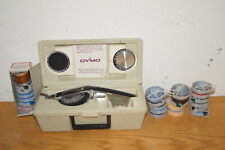 Vintage Dymo Deluxe Tapewriter Kit 1570 With Box Wheels Amp 26 Rolls Lot