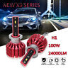 H1 ZES Chips LED Headlight Bulbs 100W 24000LM With Canbus Error Free 6500K