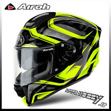 CASCO MOTO INTEGRALE FIBRA HPC HIGHT COMPOSITE AIROH ST 501 DUDE YELLOW TAGLIA S