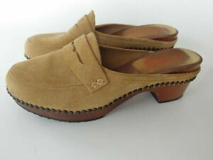MICHAEL KORS MULE/CLOGS SUEDE PENNY LOAFER SHOES TAN 9 B