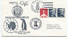 1972 Operation Deepfreeze USCGC Staten Island WAGB-278 NY Polar Cover SIGNED
