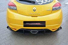 CUP Diffusor Set Ansatz Seiten für Renault Megane 3 RS Heck ABS DTM Flaps *