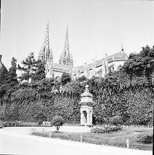 QUIMPER c. 1950 - Parc Cathédrale  Finistère - Négatif 6 x 6 - N6 BR54