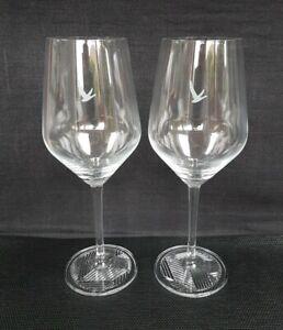 Two Stunning Grey Goose Vodka Stemmed Chalice Glasses  - NEW -