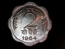 XF 1964 India Indian 1/4 rupee Very Nice Clean Coin!! 20-443