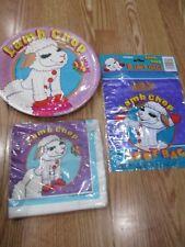3pc Lot 1993 Unique Lamb Chop Birthday Party Goods Multi-color NOS