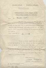 THE BOYS' BRIGADE - NOTTINGHAM BATTALION ATHLETICS 5TH JULY 1950 LETTER