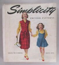 Simplicity Patterns CATALOG - 1951 ~~ Large Store Counter Pattern Book
