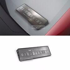 Car Accessory metallic Parking Notification Phone Number Plate for all Vehicle